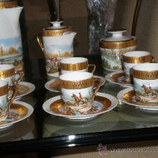 Antigüedades: JUEGO CAFÉ LIMOGES. Lote 47835641
