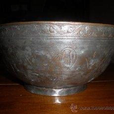 Antigüedades: PRECIOSO CUENCO DE COBRE ANTIGUO.. Lote 26437680