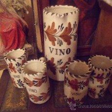 Antigüedades: JUEGO DE VINO TALAVERA. Lote 26618300