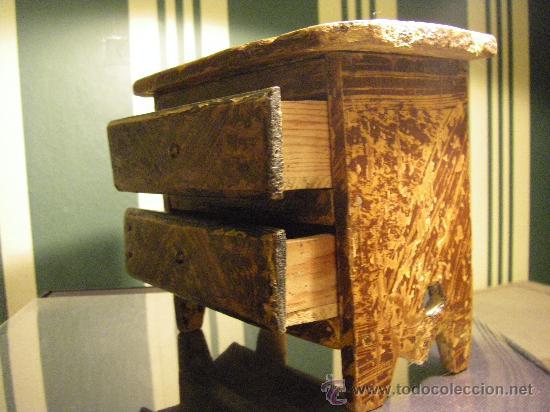 Antigüedades: Cómoda de casa de muñecas posiblemente finales del siglo XIX. origen Iniesta Cuenca - Foto 2 - 23734707