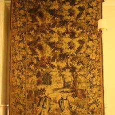 Antigüedades: TAPIZ MECANICO ESTILO CARLOS IV FINALES XIX. 258 X 125 CM. Lote 23801484