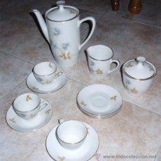 Antigüedades: JUEGO DE CAFE. OXFORD FINE WARE MADE IN SPAIN. 6 PLATOS, 3 TAZAS, 1LECHERA, 1 AZUCARERA, 1 CAFE.. Lote 23805050