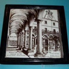 Antigüedades: AZULEJO ENMARCADO BODAS DE ORO COLEGIO DE SAN PABLO. VALENCIA. R. VENTURA CERVERA. Lote 23859868