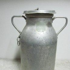 Antigüedades: LECHERA DE ALUMINIO. Lote 26888793