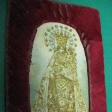 Antigüedades: ESCAPULARIO TEXTIL Y LITOGRAFIA, VIRGEN DE LOS DESAMPARADOS. FF.SG.XIX. PATRONA DE VALENCIA. Lote 23925157
