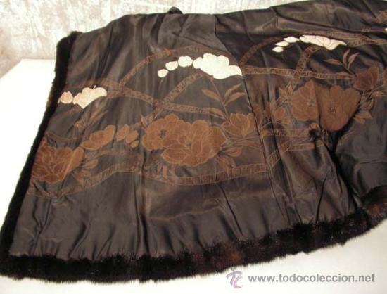 Antigüedades: Peletería Braun. Abrigo largo de visón marrón oscuro. Art Nouveau. - Foto 9 - 23570389