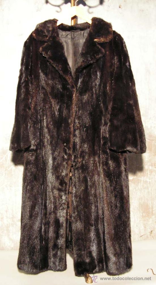 Antigüedades: Peletería Braun. Abrigo largo de visón marrón oscuro. Art Nouveau. - Foto 12 - 23570389