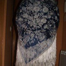 Antigüedades: MANTON AÑOS 20 BORDADO A MANO /GRANADA TIPO MANILA . Lote 26895898