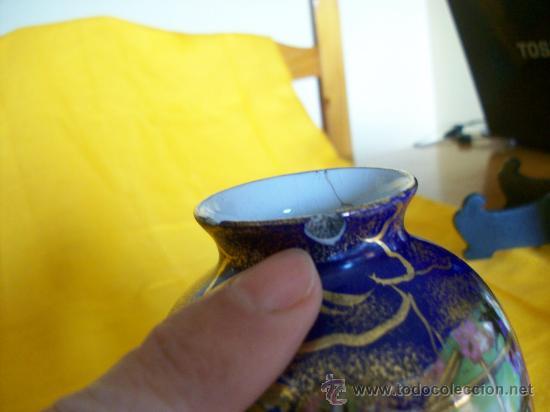 Antigüedades: BELLEZA. JARRON FLORERO.3. TEMA ORIENTAL.CHINA O JAPON. GEISHAS. KIRALPO WARE. K & Co. ENGLAND - Foto 7 - 26734067