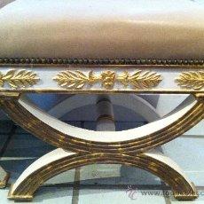 Antigüedades: PAREJA DE BANQUETAS IMPERIO S.XIX. Lote 23978373