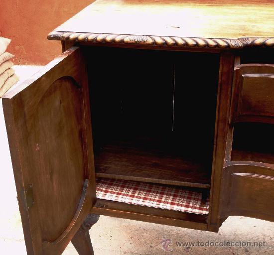 Antigüedades: APARADOR ESTILO CHIPENDALE, S.XIX EN MADERA DE NOGAL - Foto 6 - 23997938