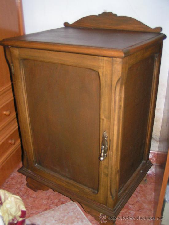 Mueble antiguo de madera mesita de noche re comprar mesas antiguas en todocoleccion 24026849 - Mesita de noche madera ...
