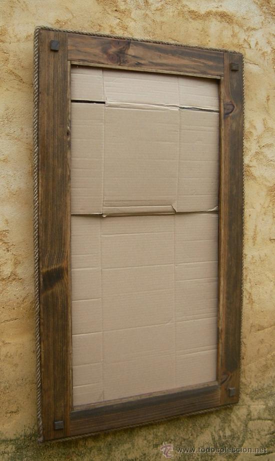 marco de espejo rustico mueble 100 cm x 60 cm, - Comprar Espejos ...