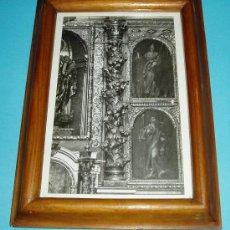 Antigüedades: FOTOGRAFÍA ENMARCADA DE RETABLO BARROCO. DIMENSIONES FOTO 11 X 17,5 CM, MARCO 16,5 X 23 CM. Lote 24044878