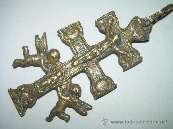 Antigüedades: MUY ANTIGUA Y BONITA CRUZ DE CARAVACA. - Foto 2 - 27013481