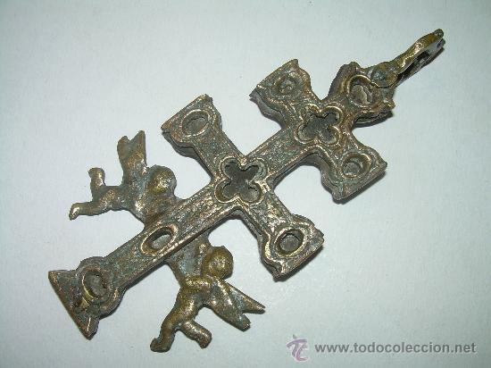Antigüedades: MUY ANTIGUA Y BONITA CRUZ DE CARAVACA. - Foto 3 - 27013481