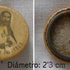 Antigüedades: BROCHE SAGRADO CORAZON ANTIGUO. Lote 24052401