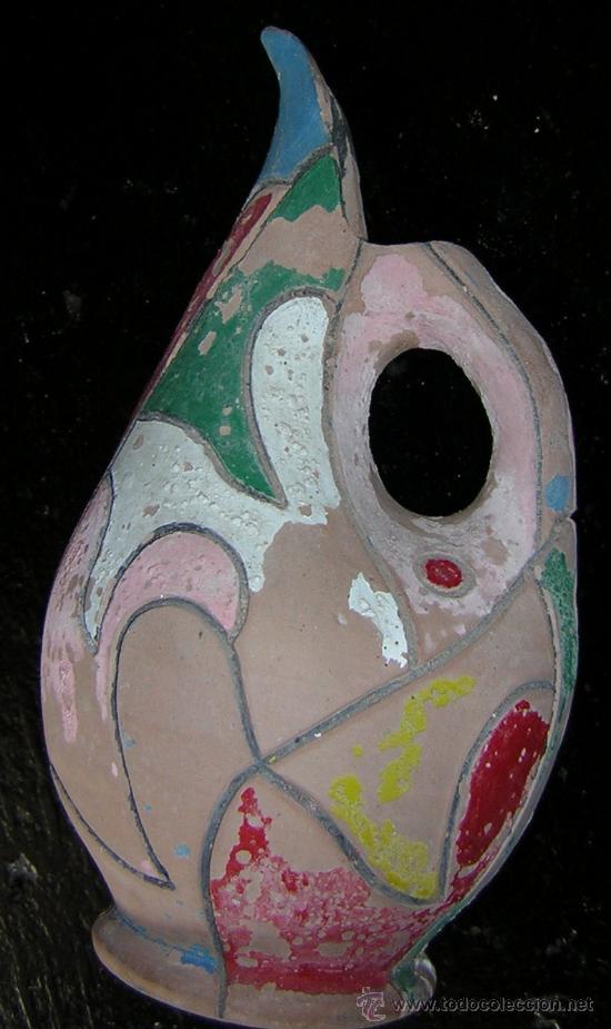 Antigüedades: JARRA DE BARRO 26 cm alto - Foto 2 - 26497161
