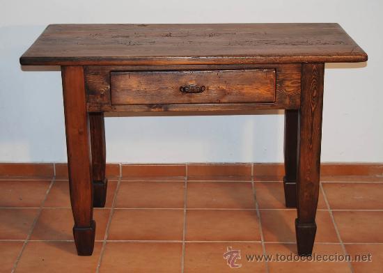 Gran mesa de cocina r stica en pino comprar mesas - Mesas antiguas de cocina ...