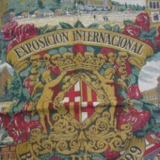 Antigüedades: PAÑUELO DE LA EXPOSICIÓN UNIVERSAL DE BARCELONA. 1929.. Lote 26942278