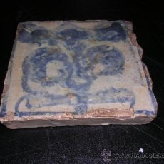Antigüedades: AZULEJO GOTICO DE MANISES S.XV,REGALAT,11,5X11,5 CM.(ANTIGUO ORIGINAL DE EPOCA NO RESTAURACION). Lote 26953536