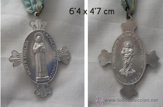 MEDALLA ANTIGUA BEATA IMELDA PRIMERA COMUNION (Antigüedades - Religiosas - Medallas Antiguas)