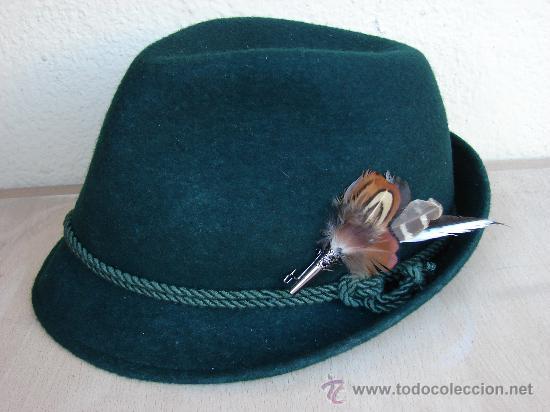 e7162c66a393d SOMBRERO DE HOMBRE. CAZA . ADORNO DE PLUMAS (Antigüedades - Moda - Sombreros  Antiguos