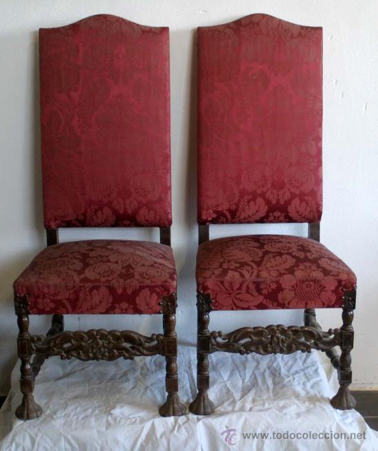 Pareja de sillas luis xiv comprar sillas antiguas en - Silla luis xiv ...
