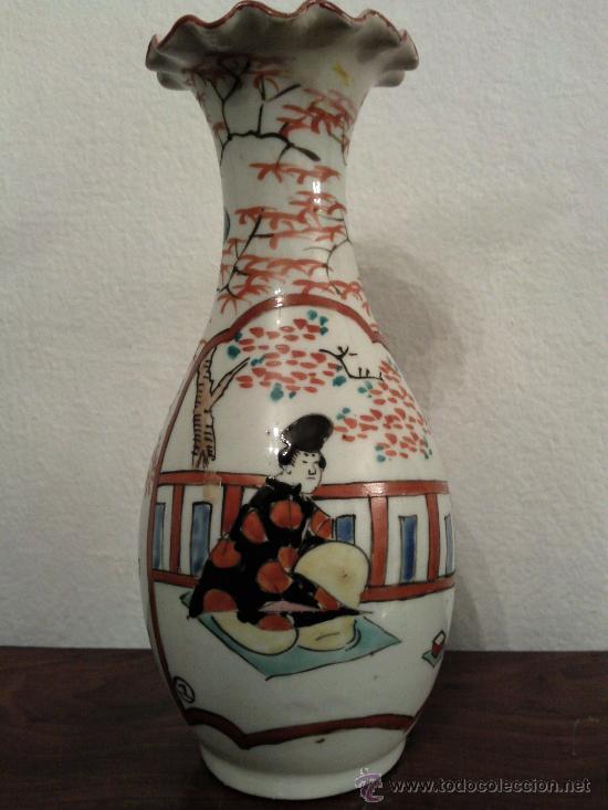 Antigüedades: Antigua pareja de jarrones Chinos de porcelana pintados a mano - Foto 2 - 27011768