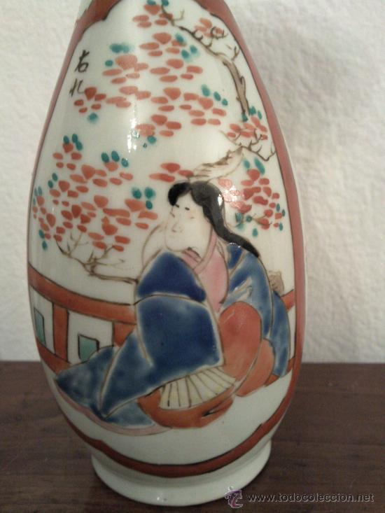 Antigüedades: Antigua pareja de jarrones Chinos de porcelana pintados a mano - Foto 3 - 27011768