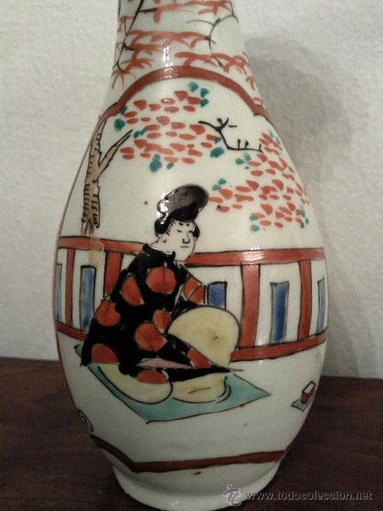 Antigüedades: Antigua pareja de jarrones Chinos de porcelana pintados a mano - Foto 4 - 27011768
