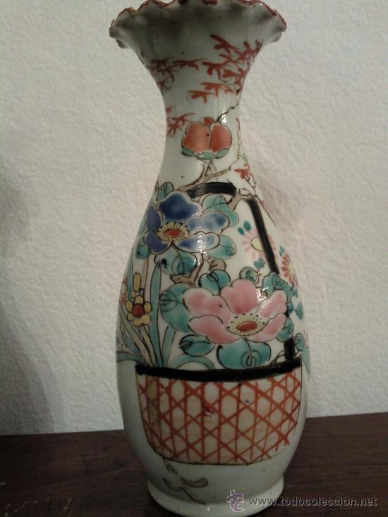 Antigüedades: Antigua pareja de jarrones Chinos de porcelana pintados a mano - Foto 6 - 27011768