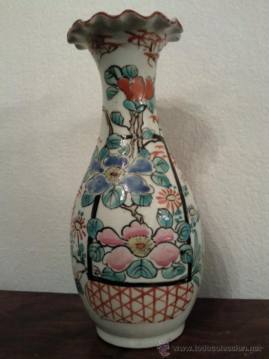 Antigüedades: Antigua pareja de jarrones Chinos de porcelana pintados a mano - Foto 7 - 27011768