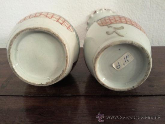 Antigüedades: Antigua pareja de jarrones Chinos de porcelana pintados a mano - Foto 9 - 27011768