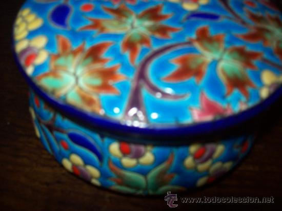 CAJA BOMBONERA LONGWY ANTIGUA (Antigüedades - Porcelana y Cerámica - Francesa - Limoges)