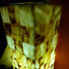 Antigüedades: LAMPARA SUELO EN ONIX DISEÑADA Y FIRMADA HAND CARVED. Lote 24264195
