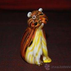 Antigüedades: BONITO TIGRE EN CRISTAL DE MURANO. Lote 24289021