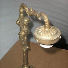 Antigüedades: LAMPARA BRONCE. Lote 27314713