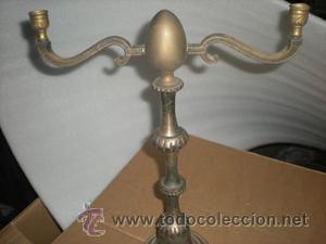 Antigüedades: CANDELABRO 2 BRAZOS - Foto 2 - 27427359
