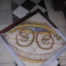 Antigüedades: PLAFON DE AZULEJOS DE ALCORA FINAL S. XVIII,(FRACMENTO) 9 AZULEJOS 20X20 UNIDAD, NINGUNA . Lote 27067850