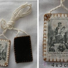 Antigüedades: ESCAPULARIO ANTIGUO N. S. DEL MONTE CARMELO. Lote 70330206