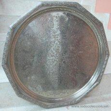 Antigüedades: GRAN BANDEJA PLATEADA. Lote 27521248