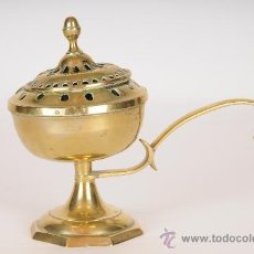 Antigüedades: ANTIGUO QUEMADOR, PERFUMADOR DE INCIENSO DE BRONCE/LATON.. Lote 27438432