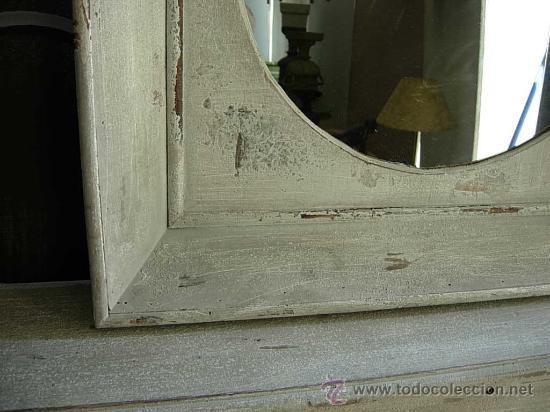 Antigüedades: ESPEJO DE MADERA CUADRADO HECHO EN DECAPE - Foto 3 - 27183360