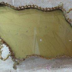 Antigüedades: ANTIGUA BANDEJA DE LATON. Lote 27521249