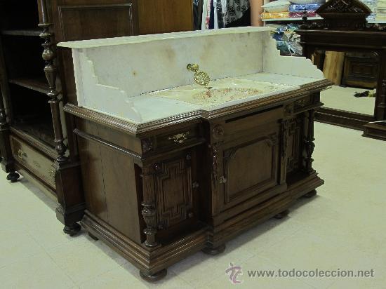 Ocasion excepcional antiguo mueble lavabo mader comprar for Muebles de lavabo segunda mano
