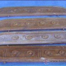 Antigüedades: COMPLEMENTOS DE MADERA PARA CAMA DINTELES ESPEJO PUERTA MADERA MELIS. Lote 24308586