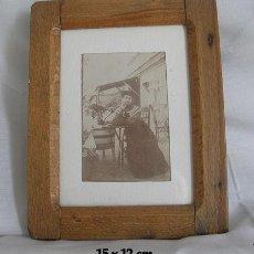 Antigüedades: PORTARRETRATOS O MARCO ANTIGUO RARO PARA FOTO O PINTURA. Lote 27592056