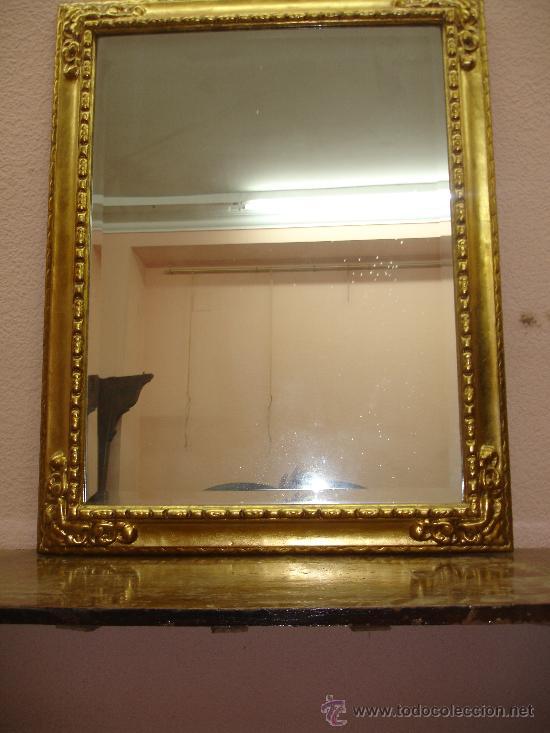 antiguo espejo en marco dorado en pan de oro. - Comprar Espejos ...