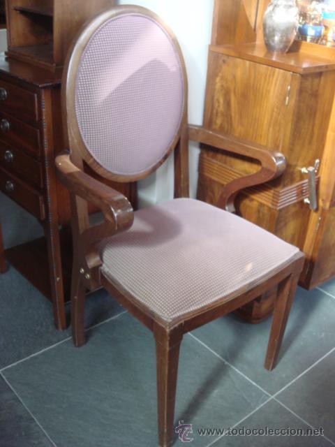 Antiguo sillon restaurado y con tapiceria actu comprar sillones antiguos en todocoleccion - Sillones antiguos restaurados ...